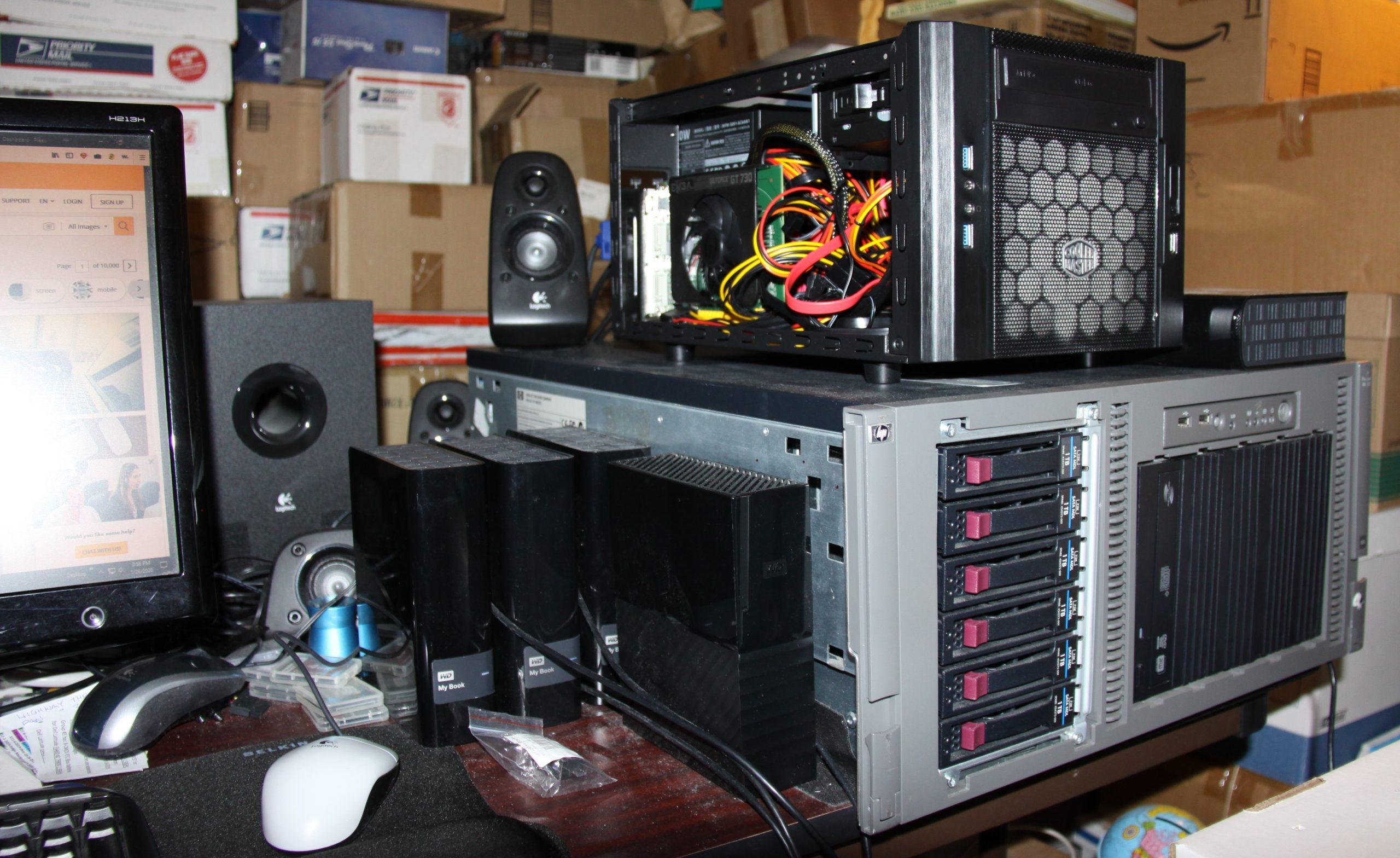 HP Proliant ML350 G5 Rack Workstation